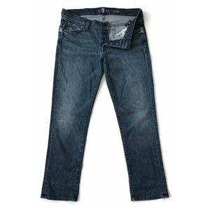 7 For All Mankind Jeans Boyfriend Crop Button Fly
